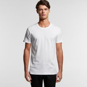 Special: AS Colour White Staple Mens Crew Tee Thumbnail