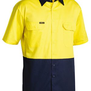 BISLEY 2 TONE COOL LIGHTWEIGHT DRILL SHIRT - SHORT SLEEVE Thumbnail