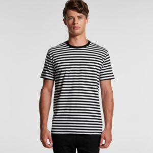 MENS STAPLE STRIPE TEE - 5028 Thumbnail