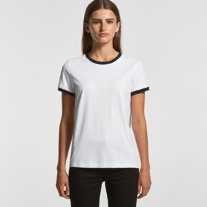 Womens AS Colour Ringer Tee 4053 Thumbnail