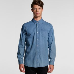 AS Colour Men's Blue Denim Shirt 5409 Thumbnail
