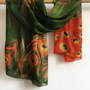 Organic Silk Scarf with Full Colour Printing Thumbnail