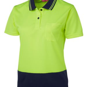 Ladies Hi Vis Non Cuff Traditional Polo Thumbnail