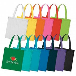 Cotton Coloured Tote Bag Full Colour Print Min Qty 100 units Thumbnail