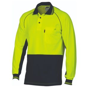 DNC Workwear Hi Vis Cotton Backed Cool-Breeze Contrast Polo 3720 Thumbnail